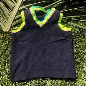 Neon J.Crew sweater